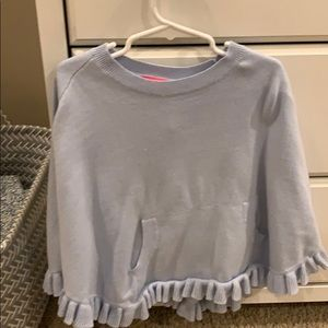 Lily Pulitzer toddler blue sweater poncho